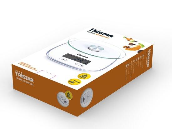 Tristar KW-2445 Keukenweegschaal – 5 kilogram – Wit