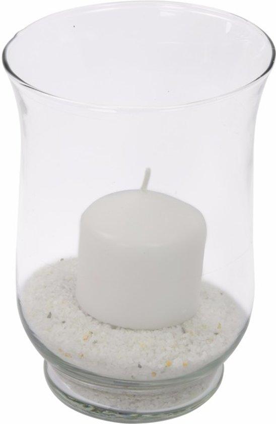 Kaars In Glas.Windlicht Van Glas Met Kaars En Zand