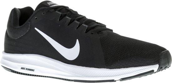 Nike Downshifter 8 Hardloopschoenen Heren Hardloopschoenen - Maat 45 - Mannen - zwart/wit