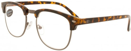 6c2217facd6a31 Icon Eyewear RFD211 +2.00 Clubmaster BlueShields bril - blauw licht filter  lens - Tortoise