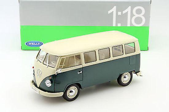 Welly - Volkswagen T1 Bus 1963 - Schaal 1:24 - Groen/Wit