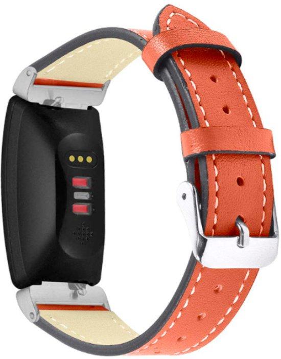 YONO Leer bandje - Fitbit Inspire (HR) - Rood