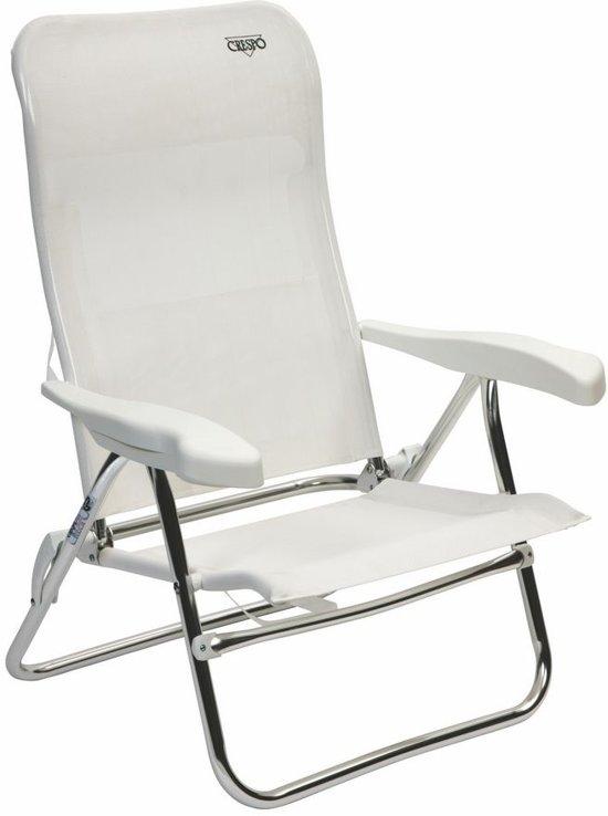 Crespo Strandstoel Aanbieding.Crespo Strandstoel Al 205 Wit 01