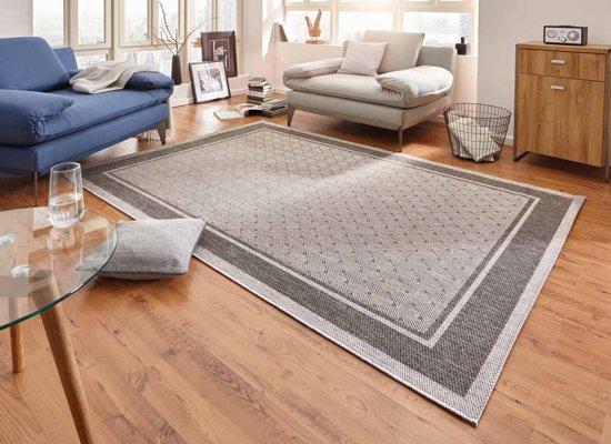 Modern vloerkleed Classy - grijs 80x150 cm