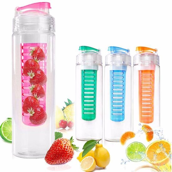 water fles fruit