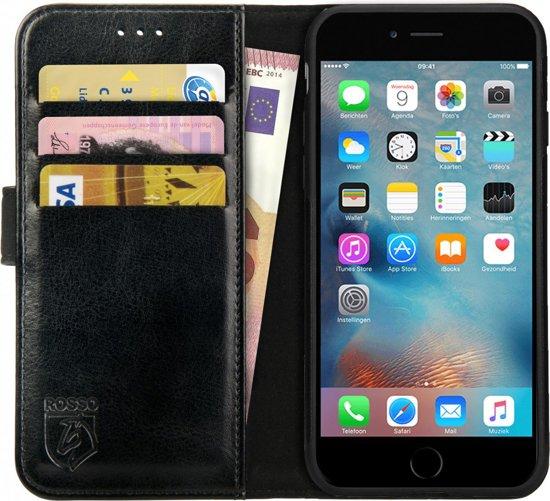 Rosso Element Apple iPhone 6 Plus / 6S Plus Hoesje Book Cover Zwart