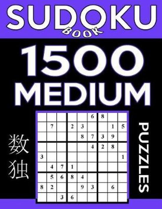 Sudoku Book 1,500 Medium Puzzles