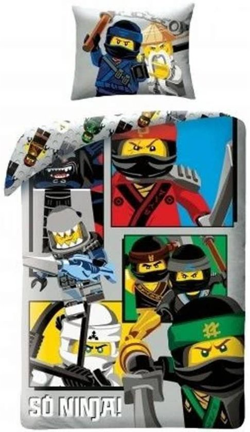 Lego Ninjago So Ninja! - Dekbedovertrek - Eenpersoons - 140 x 200 cm - Multi