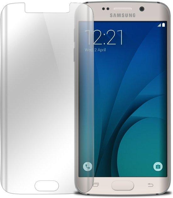 Samsung Galaxy S6 EDGE - Full Coverage Glass Screenprotector Tempered Glass Ultradun, Gehard Glas | Beschermhardheid 9H | Anti Shattered Film coating | Ultra HD Lightscreen | Kristalheldere weergave
