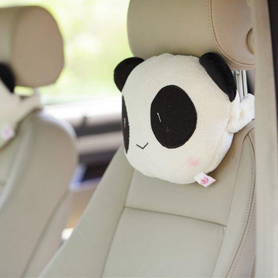 2 STKS Paar Minnaar Panda's Stijl Universele Auto Auto Puur Katoen Nekkussen Rest Hoofdsteun Kussen Pad-