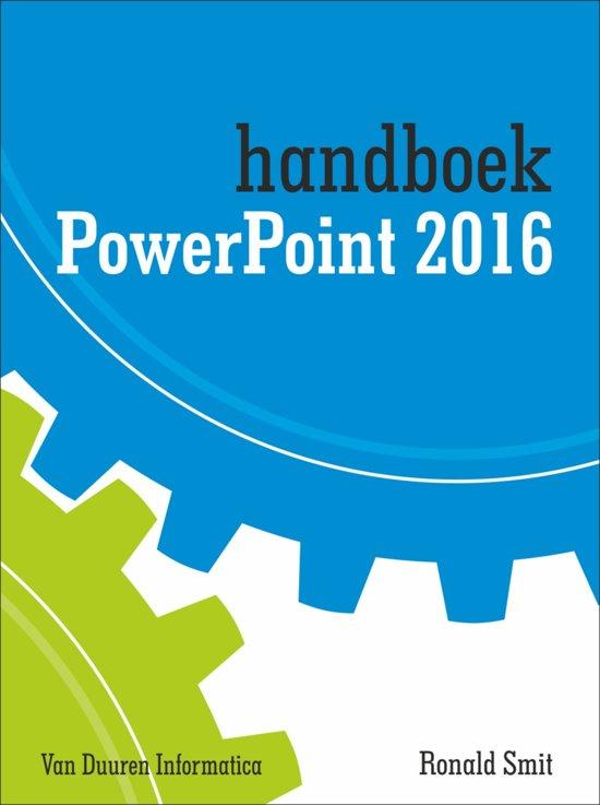Handboek powerpoint 2016