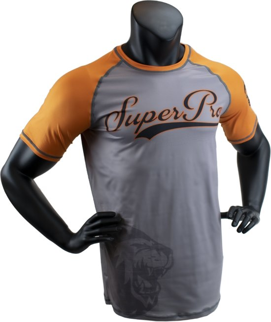 Super Pro Combat Gear T-Shirt Sublimatie Challenger Grijs/Oranje/Zwart Medium