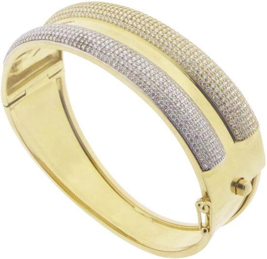 11273cb7188 bol.com | Christian 14 karaat geel gouden armband met zirkonia