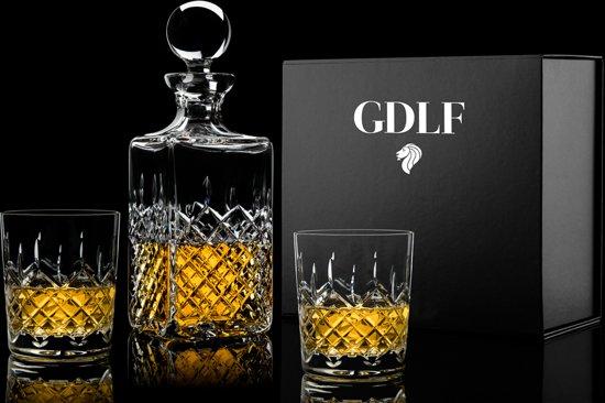 Handgeslepen Kristallen Whiskyset Royal in Giftbox by GDLF