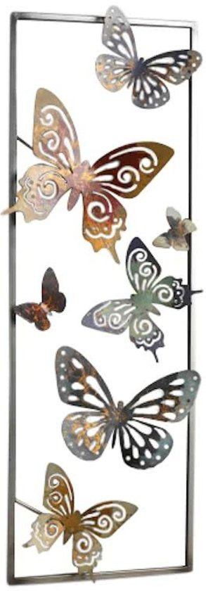 bolcom wanddecoratie vlinders rechthoek
