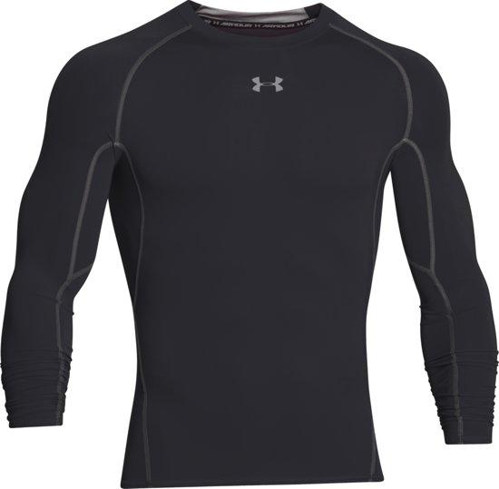 Under Armour HG Armour LS Heren Sportshirt - Zwart - Maat XL