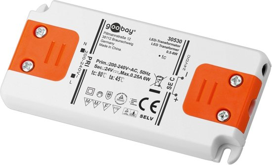 Goobay SET 24-06 LED slim 89 Electronic lighting transformer 6W