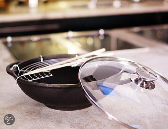 Berndes Vario Click Induction Wok met Glazen Deksel 32 cm