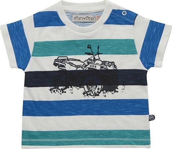 Minymo - jongens T-shirt - Ebbe - blauw