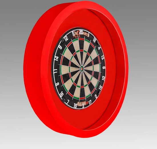 tcb darts dartbord verlichting voor om dartbord surround rood