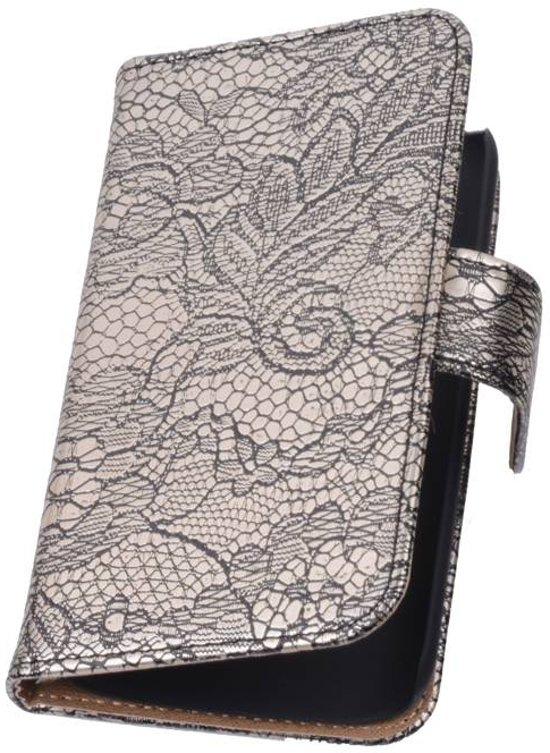 Lace Bookstyle Hoes voor Nokia Lumia 830 Zwart
