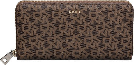 | DKNY Bryant Dames Zip Aroundportemonnee Mocha