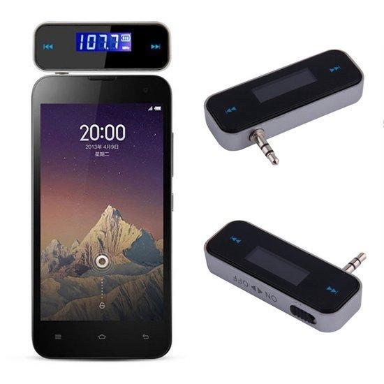 watch 10213 19938 3,5 MM Aux FM Transmitter -- iPhone 6 USB Carkit - Ipod MP3 Auto Radio  Receiver