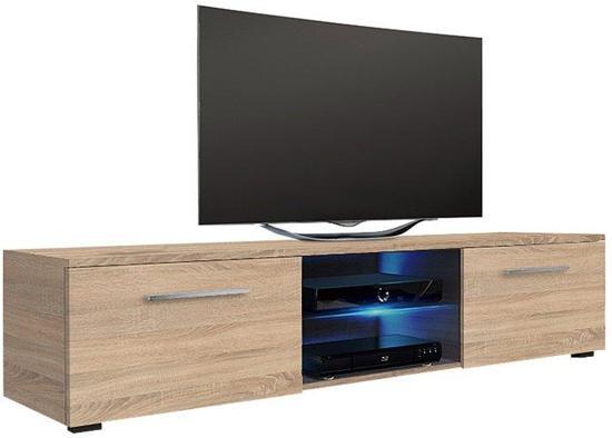 Tv Meubel Tv Kast Tenus Zonder Led Verlichting Sonoma Eiken