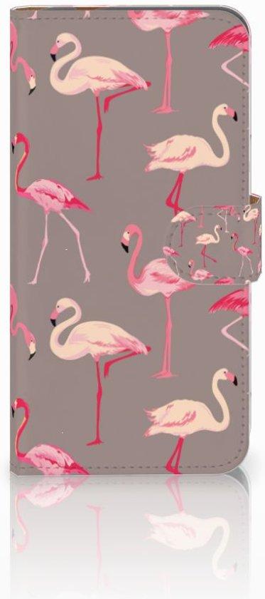 Exclusief Hoesje voor de Huawei Nova Plus met Flamingo's