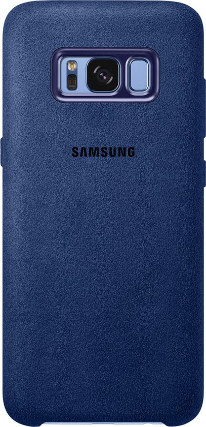 29c058b1368 bol.com | Samsung Galaxy S8 Hoesje - Alcantara Cover Blauw