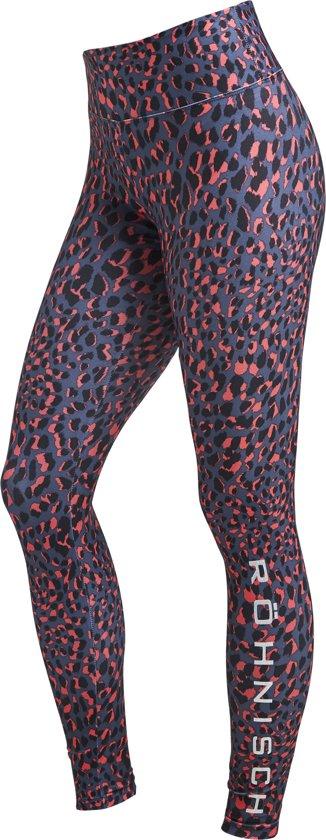 Rohnisch Flattering Printed Tights Dames Sportlegging - Coral Spot - Maat M
