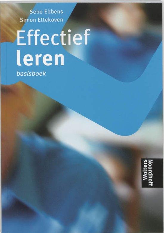 Effectief leren Basisboek - S. Ebbens