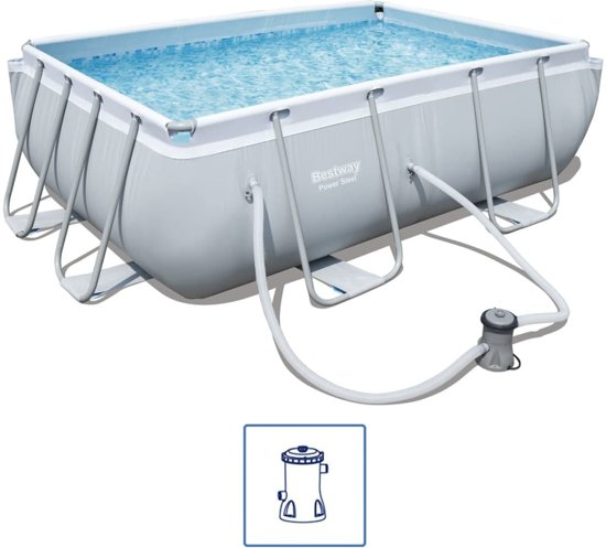 Bestway Power Steel Rechthoekige zwembad set 282x196x84 cm 56629