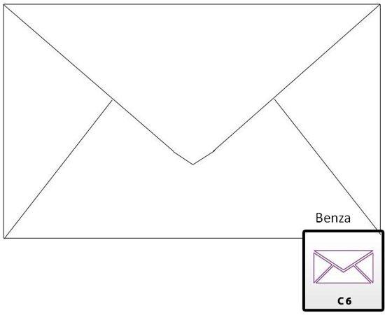 Benza Wenskaart Enveloppen - Langwerpig 16,2 x 11,4 = C6 - Wit - 50 Stuks