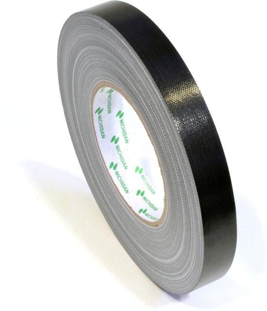 Nichiban   -  duct tape    -  19 mm x 50 m   -  Zwart