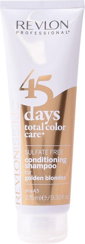 MULTI BUNDEL 2 stuks Revlon Revlonissimo 45 Days Conditioning Shampoo Golden Blondes 275ml