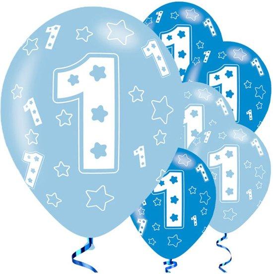 Populair bol.com | 1 jaar ballonnen jongen - eerste verjaardag blauw #EI07