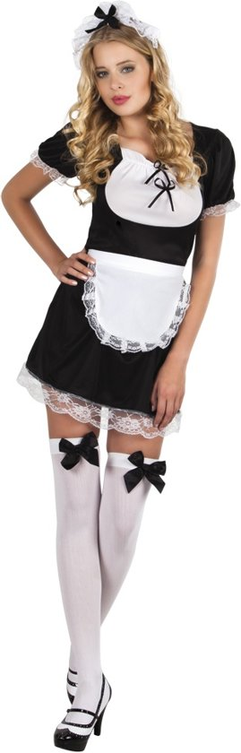 Volwassenenkostuum Franse meisje Claudette - Maat M - Carnavalskleding