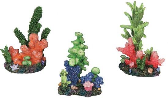 Aquarium deco colored coral 8,5x5x11,5cm
