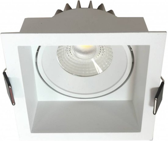 Inbouwspot Vierkant Wit 10Watt Led IP44