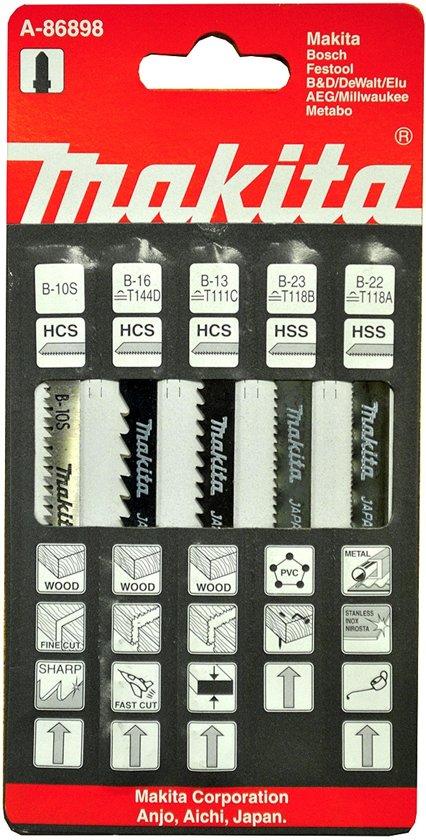 Makita Decoupeerzaagbladenset A-86898 (5x)