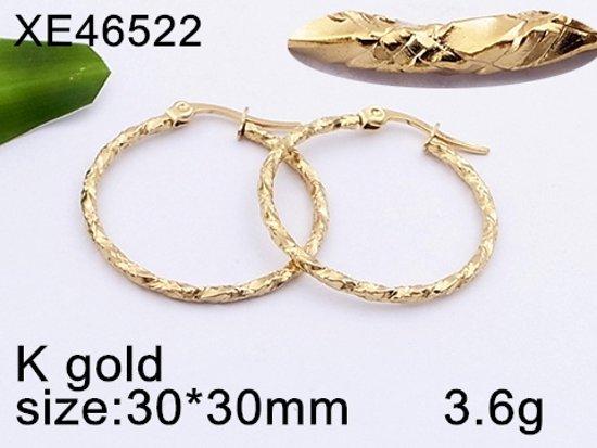 oorringen gedraaid-staal-goudkleurig-30mm