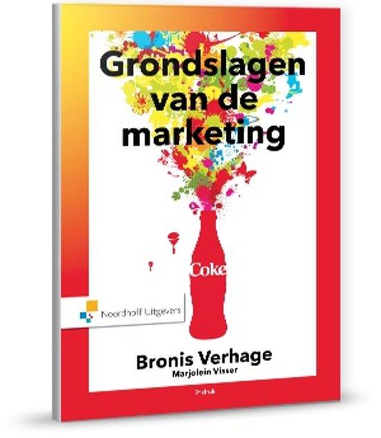 Boek cover Grondslagen van de marketing van B. Verhage (Hardcover)