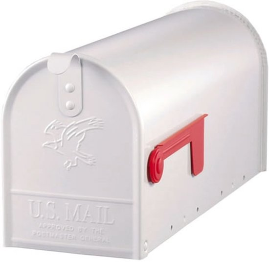 Amerikaanse brievenbus / US mailbox (wit, staal)