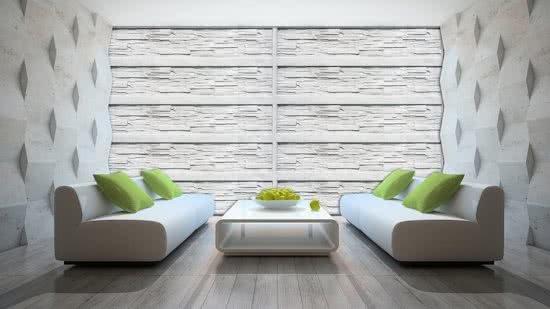 Bol.com fotobehang muur wit grijs 208x146cm