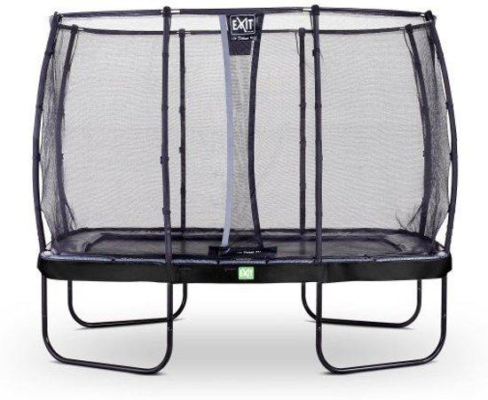 EXIT Elegant trampoline 214x366cm met veiligheidsnet Deluxe - zwart