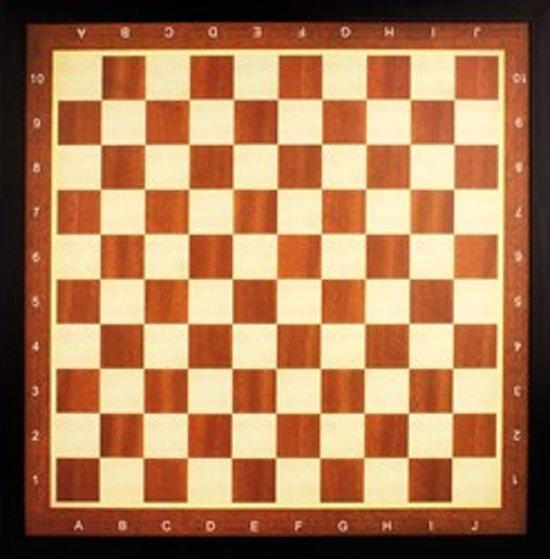 Schaakbord - Dambord - Schaak/Dambord - Damboard - Schaakboard - 50 x 50 cm Deluxe