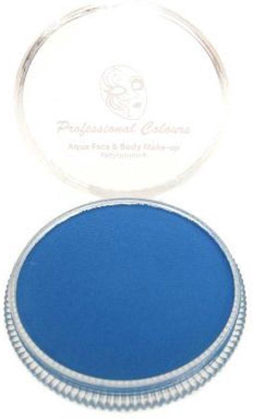 Aqua schmink fluor blauw