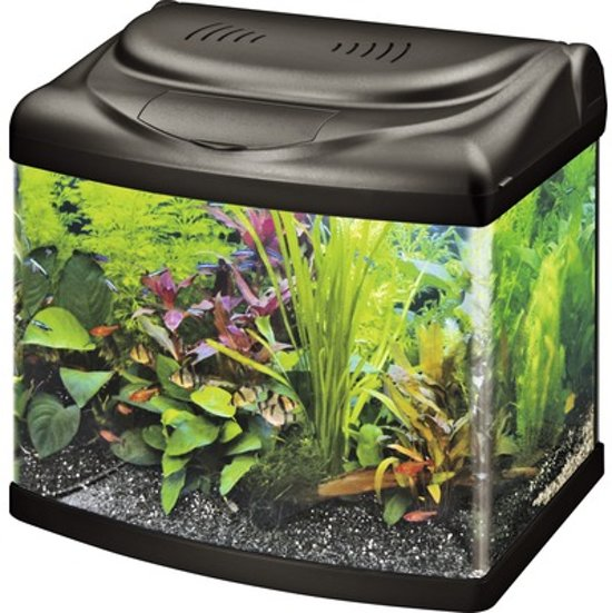 superfish panorama aquarium 60 liter zwart. Black Bedroom Furniture Sets. Home Design Ideas
