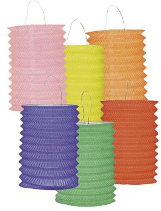 Set van 12 gekleurde lampionnen Valentinaa